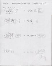 9.6 Worksheet solving quadratic equations by factoring