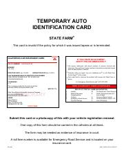 1998 Pontiac Bonneville Temporary Id Card Pdf Temporary Auto Identification Card State Farm This Card Is Invalid If The Policy For Which It Was Issued Course Hero