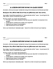 a lesson before dying chapter quotes picture odt hour questions for a lesson 2 pages