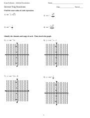 Worksheet by Kuta Software LLC 2 Identify the domain and