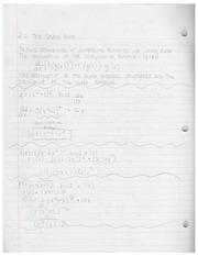 AP Calculus Chapter 5 Notes