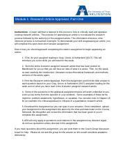 N5366 Graded Apprassial Pdf Module 1 Research Article Appraisal