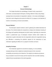 Parts Of Thesis Chapter 5