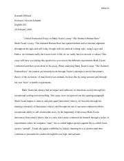 Week 3 Critical Evaluation Essay Discussion Thesis Statement
