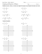 Graphing Ellipses Given the General Equation Quiz