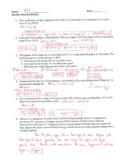 Printables. Specific Heat Worksheet With Answers. Mywcct ...