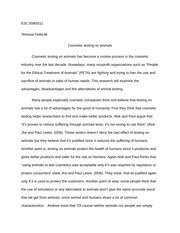 Essay Research Paper How To Quote An Author In A Research Paper