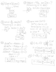 Pre-Calc- Final Review Answer Key Part 1- 16-30