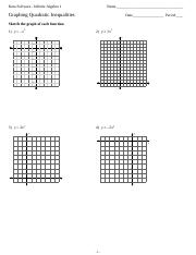 Printables. Graphing Quadratic Functions Worksheets