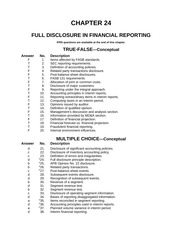 e Correction of an error restatement of financial