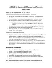 Aice Em Guidelines Research 2 AICE Environmental Management