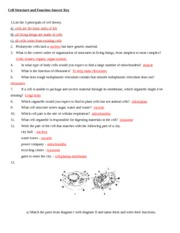 Cellular Respiration Review Answer Key - on Earth. 9 ...