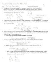 Physics- Conservation of momentum worksheet - Physics ...