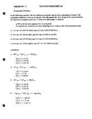 Mole Worksheet 2