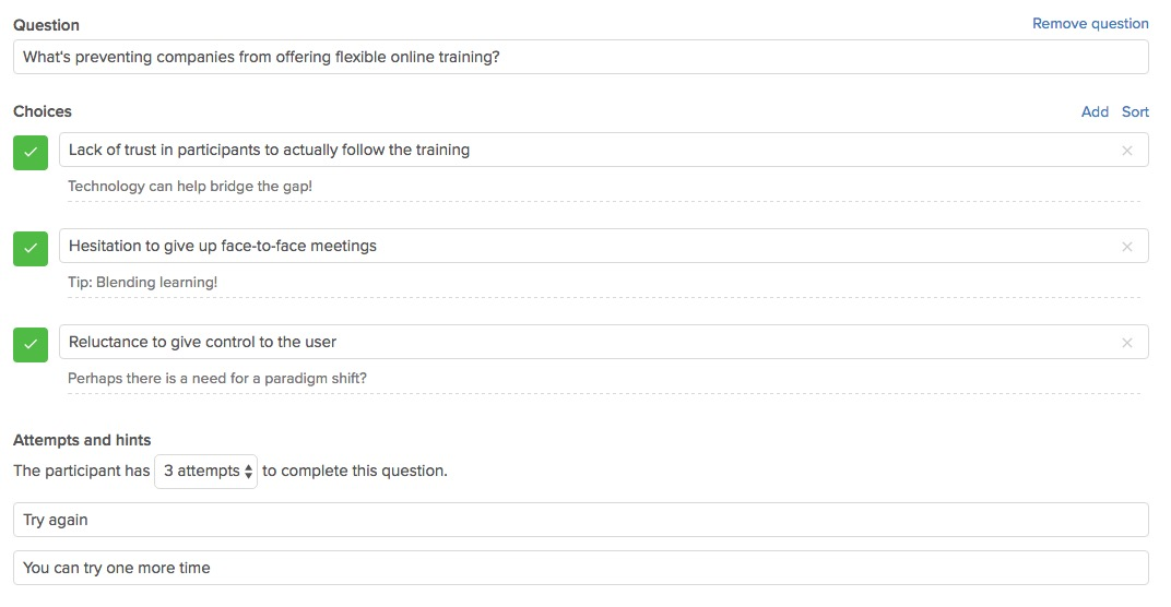 Qualify Employees: Test Knowledge With Flexible Question