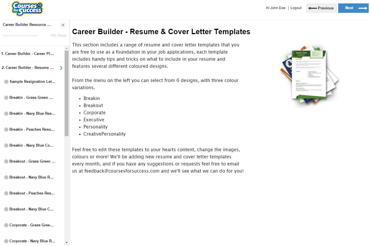 Career Builder Library Overview