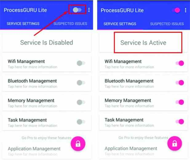شرح تطبيق ProcessGURU Lite