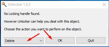 طريقة حذف ملف مزعج