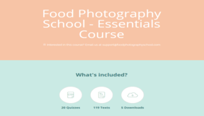 Food Photography School – Essentials Course + Bonus Phone Course