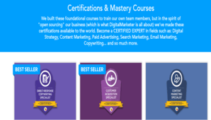 DigitalMarketer – Certifications & Mastery Courses All Courses Bundle