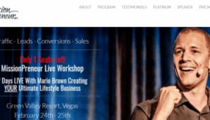 Mario Brown - MissionPreneur Live Workshop