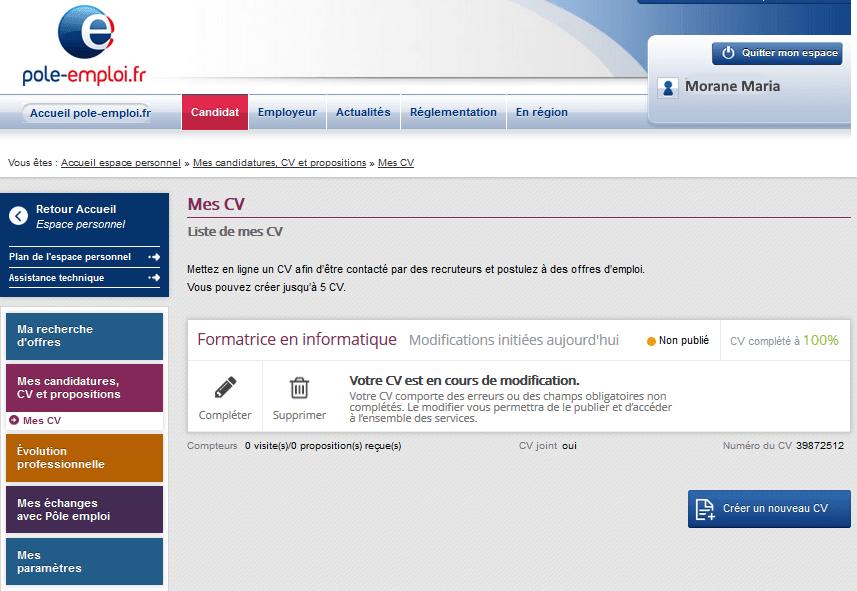 site emploi et cv en ligne