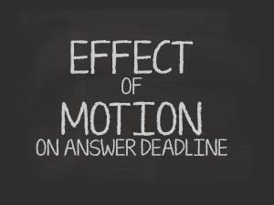 effect of a motion