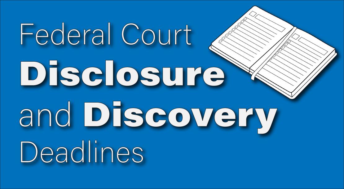 deadline for federal disclosures