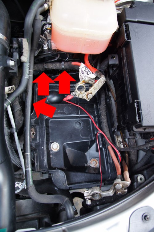 small resolution of wiring harness to battery tray clips