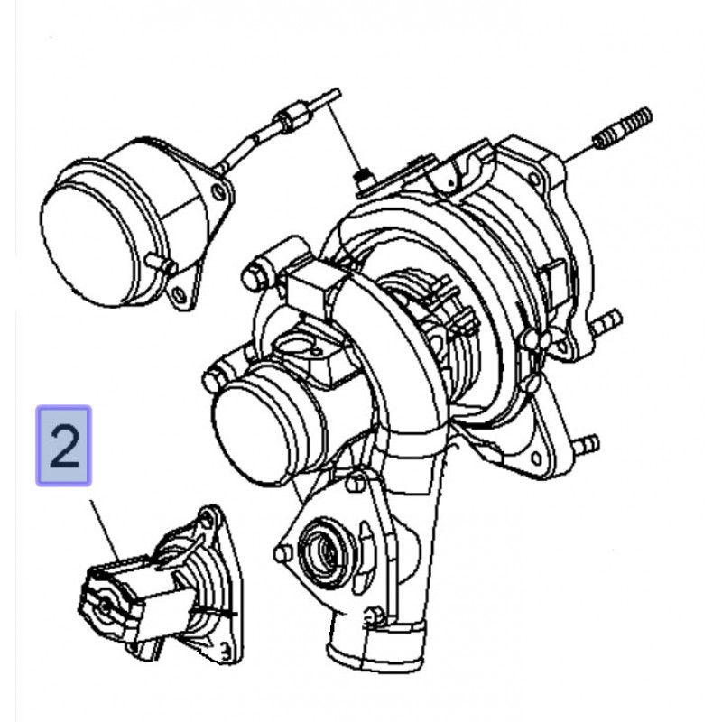 Turbocharger Recirculation Diverter Valve 2.8 Turbo VXR