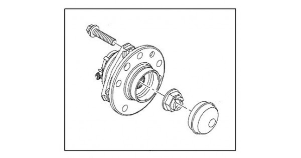 Hub Assembly Front With ABS 5 Bolt Astra H 1.6T 2.0T