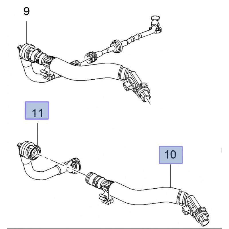 Crankcase Ventilation Breather Hose Corsa E VXR B16LES