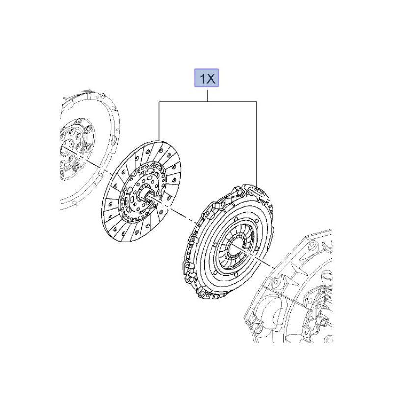 OE Clutch Kit Cover and Disc Insignia 2.8T from A1000001