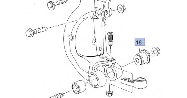 Steering Knuckle Lower Rear Bush Hyperstrut Insignia VXR 4WD