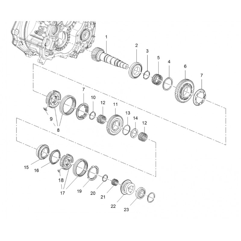 M32 Lower Mainshaft Components Astra H VXR