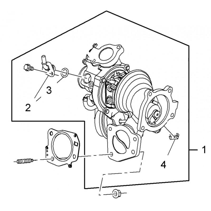 Turbocharger Astra J VXR A20NFT Insignia 2.0 Turbo A20NFT