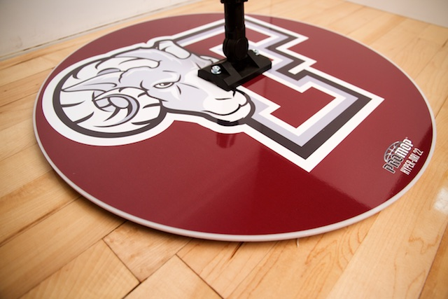 PROMOP HYPER-DRI 22 ROUND BASKETBALL / VOLLEYBALL SWEAT MOP - CUSTOMIZED WITH YOUR LOGO AND TEAM COLORS