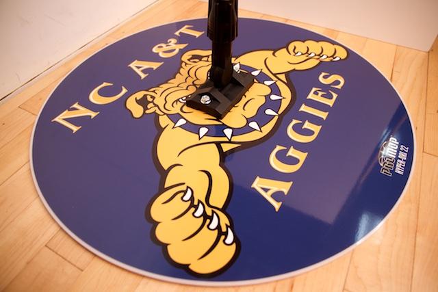 NC A&T AGGIES - HYPER-DRI 22 ROUND BASKETBALL/VOLLEYBALL SWEAT MOP