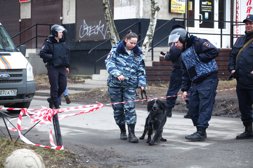 New explosives obtained from a building in Russia's St Petersburg
