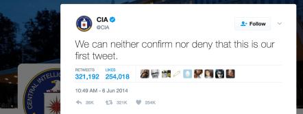 cia first tweet