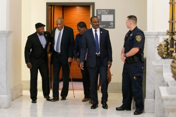 Bill Cosby arrives at the Montgomery County Courthouse on June 8, 2017, in Norristown, Pennsylvania. (Pool photo via Courthouse News Service by Eduardo Munoz Alvarez/AFP)