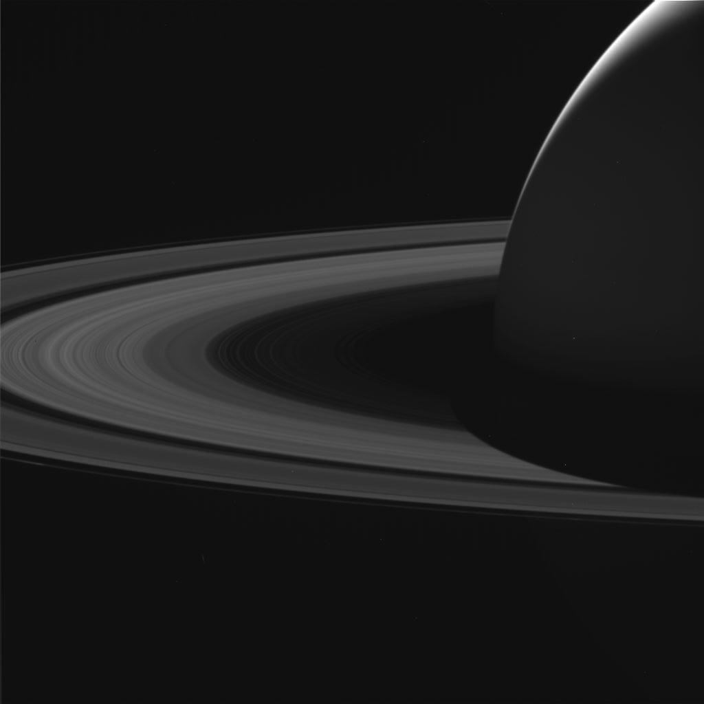 Saturn & Rings From Cassini Spacecraft