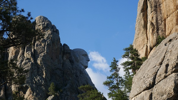 George Washington's profile, Mount Rushmore. (Photo by Chris Marshall/CNS)