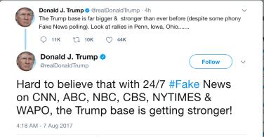 trump fake news