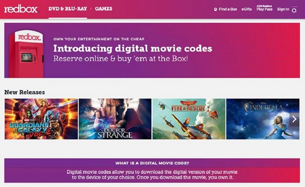 Disney is suing Redbox to stop it from selling digital download codes