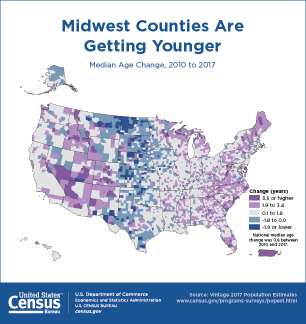 Asian Population In Us Map.Census Us Population Getting Older More Diverse