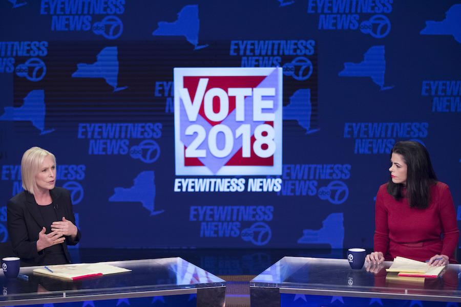 New York State Senate Candidates 2020.Denying Eye On 2020 Gillibrand Faces Off With Gop Challenger