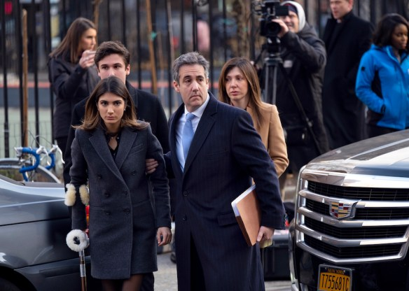 Image result for images of Michael Cohen with family on Dec. 12, 2018