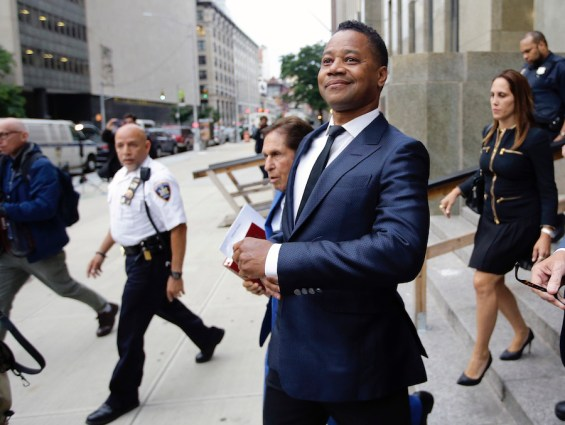 Cuba Gooding Jr. leaves criminal court in New York on June 13, 2019. A New York City judge has rejected actor Cuba Gooding Jr. (AP Photo/Frank Franklin II, File)