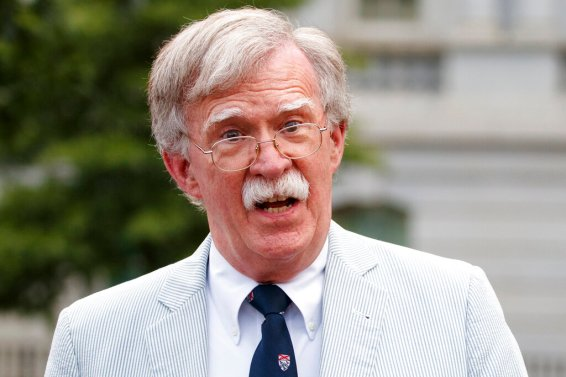 Then-national security adviser John Bolton speaks to media at the White House in Washington on July 31, 2019. (AP Photo/Carolyn Kaster)